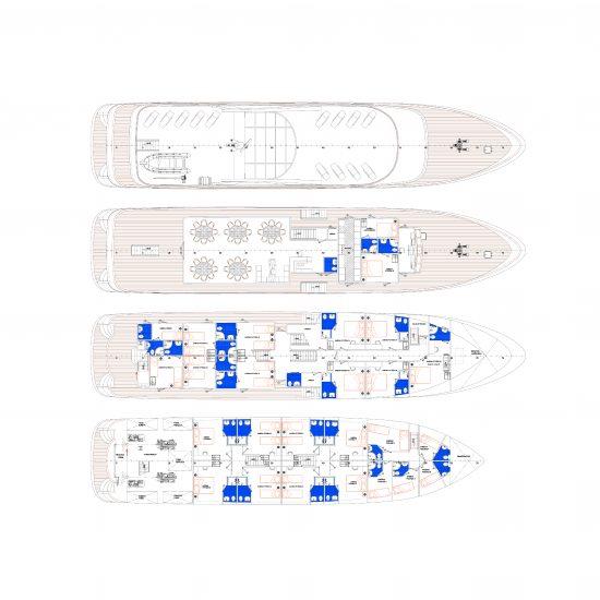 MS Aquamarine Deck Plan