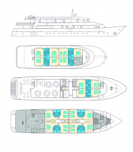 MS Fantazija Deck Plan