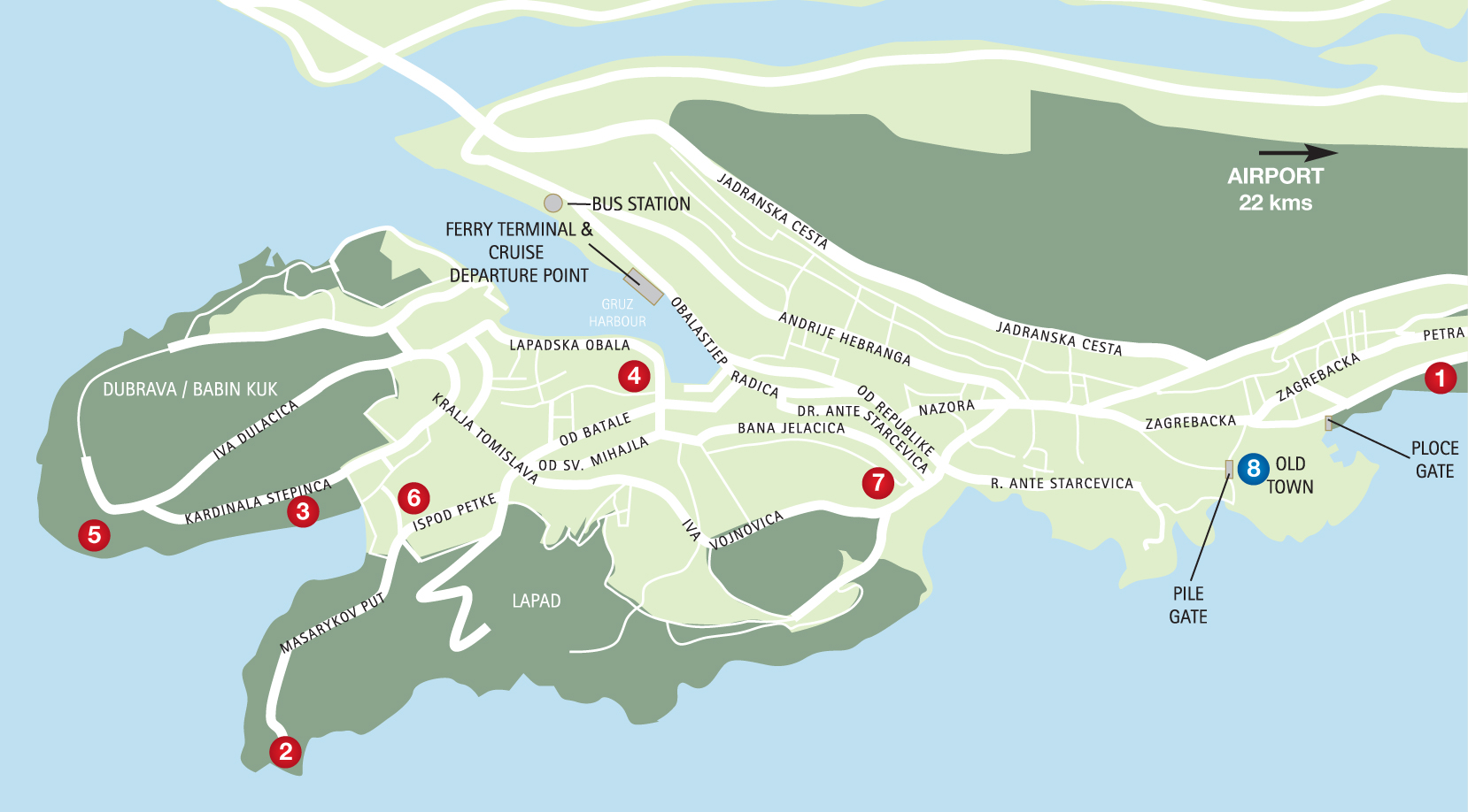 Visit dubrovnik with cruise croatia croatian cruises sailing map of dubrovnik gumiabroncs Images