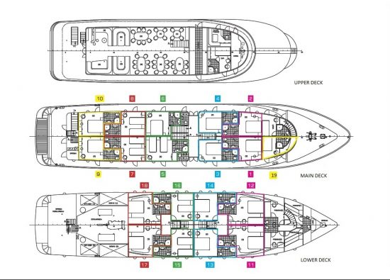 MS Adriatic Pearl - Deck Plan