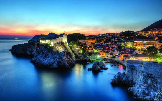 Dubrovnik - City Walls at Night