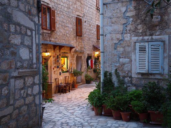 Charming streets of Hvar