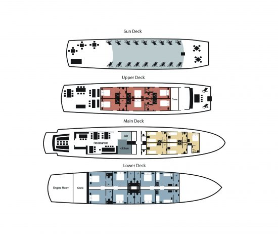 MS Splendid Deck Plan