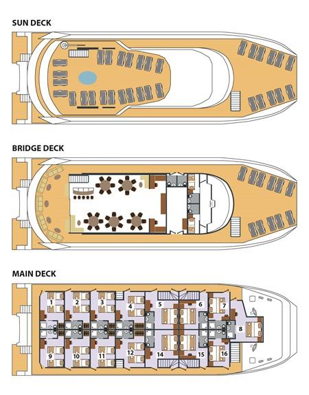 ADRIATIC QUEEN - Deck Plan