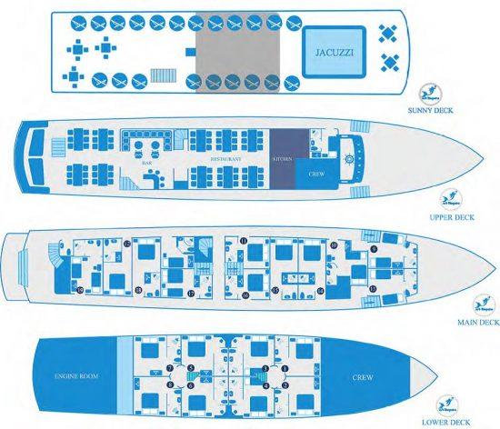 Kleopatra Deck Plan