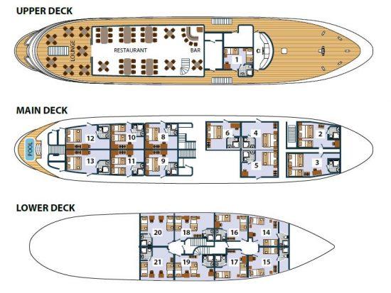 Prestige Deck Plan
