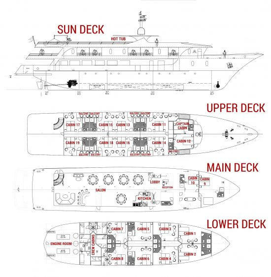 MS Infinity 2 Deck Plan Small