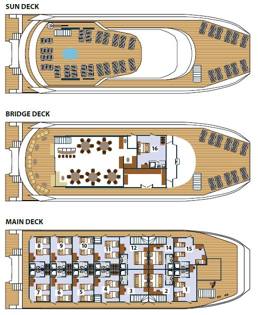 MS Adriatic Queen - Deck Plan