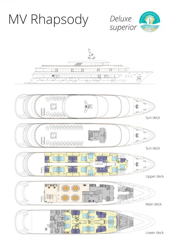 MS Rhapsody Deck Plan