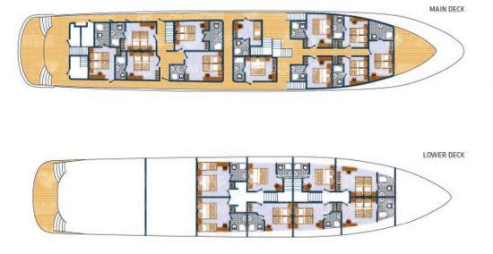 MS Adriatic King - Deck Plan