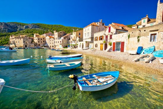 The beautiful waterfront on the island of Vis