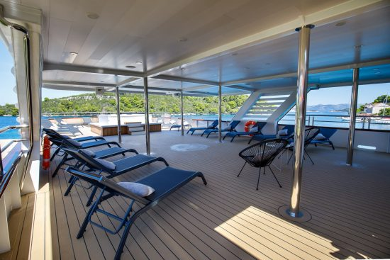 The Sun deck onboard MS My Wish