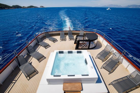 Sun deck with jacuzzi onboard MS My Wish