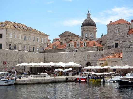 Dining by the walls of Dubrovnik