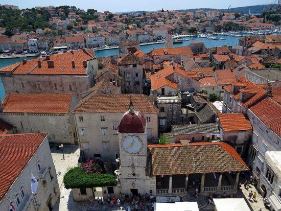 Garagin-Fanfogna Palace and old town surrounds, Trogir, Croatia