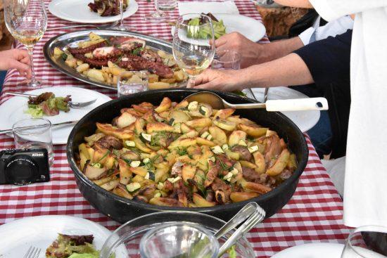 Meal at Hora Estate, Stari Grad Plain, Hvar