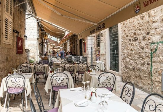 Restaurants in the Old Town of Dubrovnik