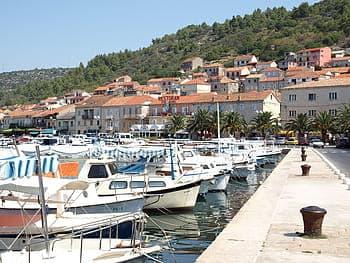 The port at Vela Luka, Korcula, Croatia