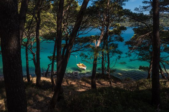 Meandering by the lake at Mljet National Park