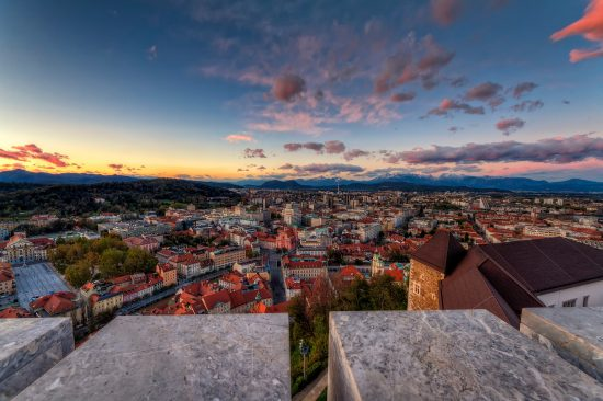 Beautiful views over Ljubljana (credit: Alan Kosmac)