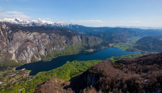 Magnificent views across the Julian Alps including the beautiful Lake Bohinj (credit: Ales Zdesar)
