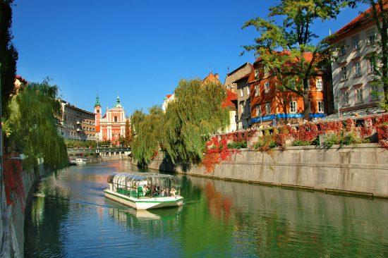 Tromostovje River, Ljubljana, Slovenia (credit: Dunja Wedam)