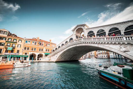 The iconic Rialto Bridge, Venice